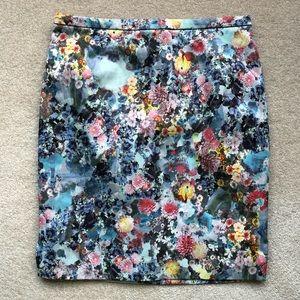 H&M Floral Pencil Skirt - Size 10